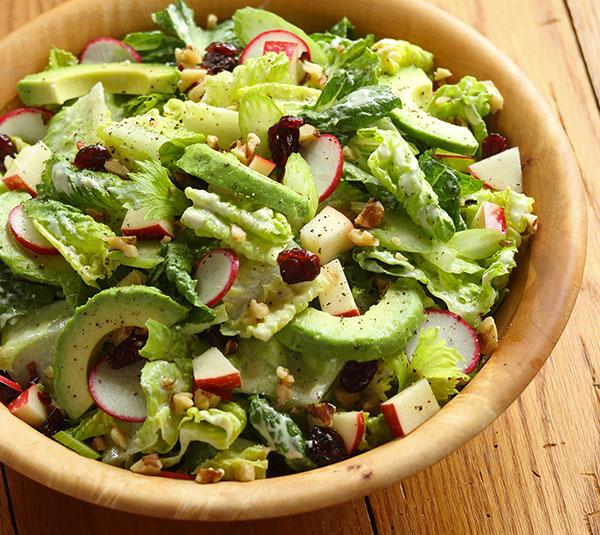 Apple Walnut Salad With Lemon Buttermilk Dressing