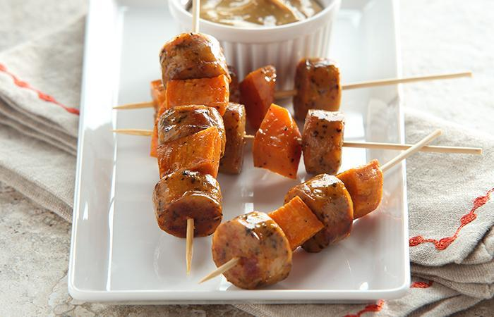 Sausage and Sweet Potato Skewers