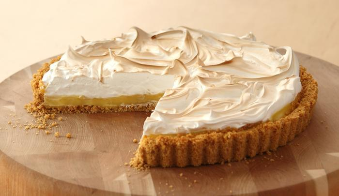 Lemon meringue pie with store bought curd