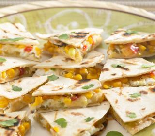 Goat Cheese and Green Chile Quesadillas