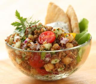 Greek Grain Salad with Dilled Feta Dressing