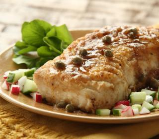 Halibut with Browned Butter Caper Sauce