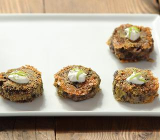 Black Bean Cakes with Lime Sour Cream