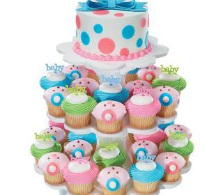 Baby Shower Cake & Cupcake Tree