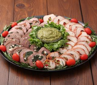 Beef and Chicken Roulade Platter