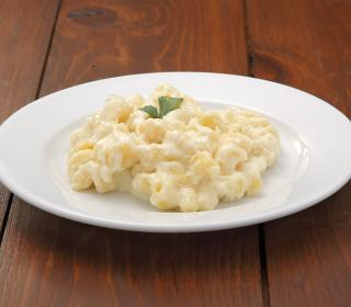 Four-Cheese Garlic White Mac & Cheese