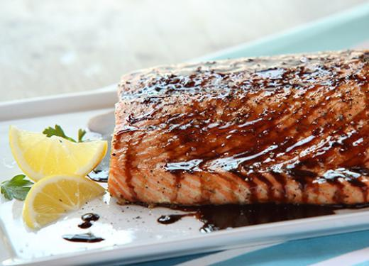 Kowalski's Balsamic-Glazed Grilled Salmon