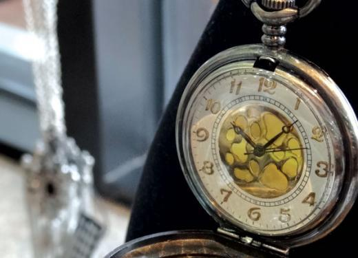 A pocket watch from Kowalski's Gift Department
