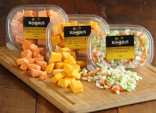 Kowalski's Fresh Pre-Cut Veggies, prepared by J&J Distributing