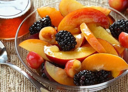 Peaches and Blackberry Bowl