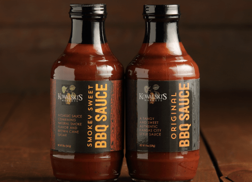 Two Jars of Kowalski's BBQ Sauces