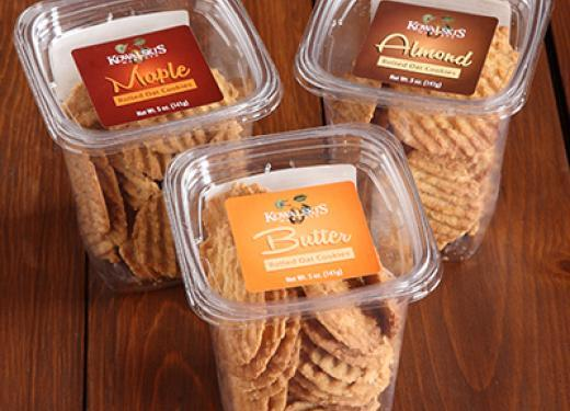 Packages of Rolled Oat Cookies