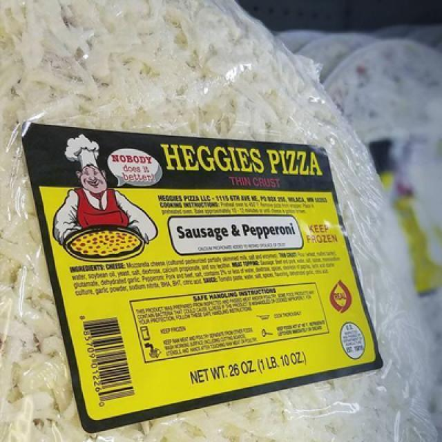 Heggies Sausage & Pepperoni Frozen Pizza