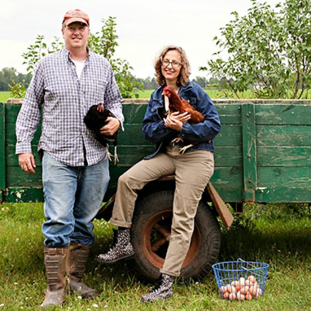 Jason and Lucie Amundsen of the Locally Laid Egg Company