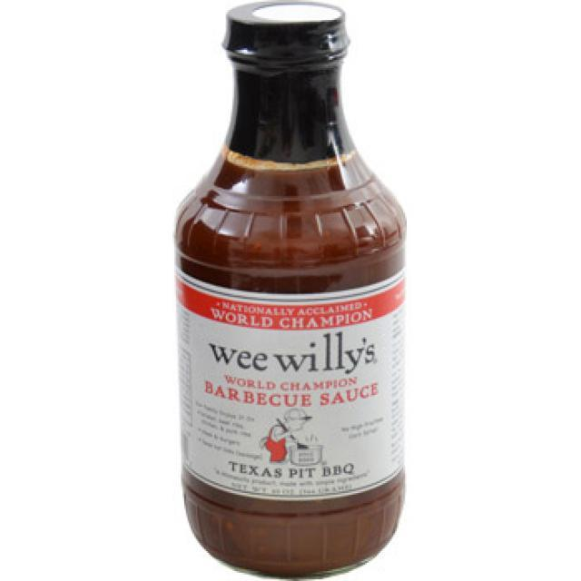 Bottle of Wee Willy's Barbecue Sauce