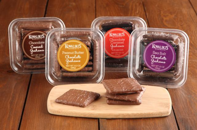Four Package Varieties of Kowalski's Chocolate Covered Grahams