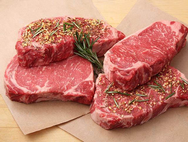 Seasoned Raw Steaks