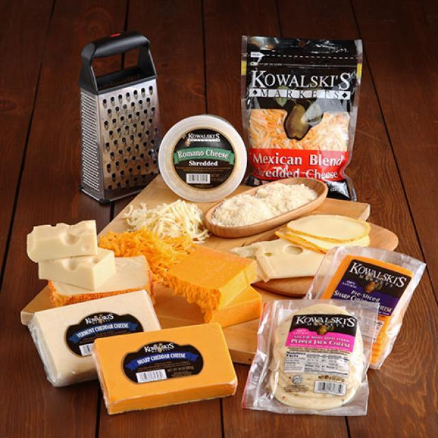 Blocks, Shreds and Slices of Kowalski's Cheeses