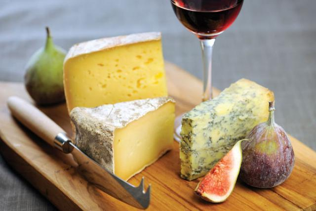 Specialty Cheese Wine and Figs