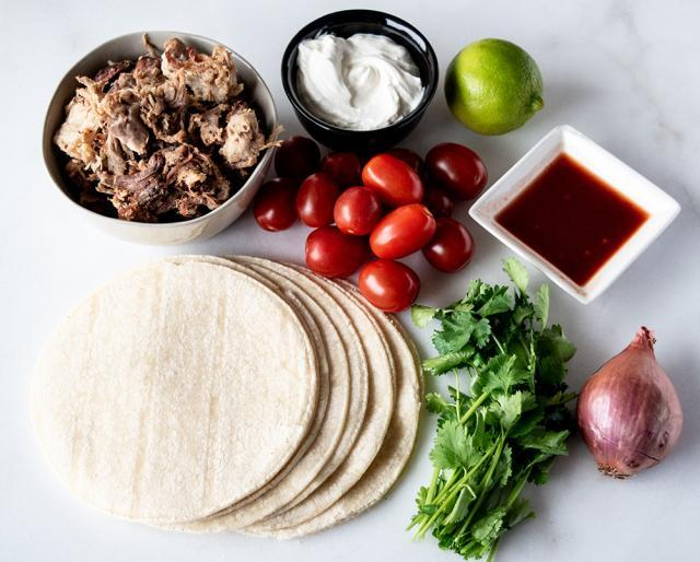Kowalski's Pork Carnitas Tacos Meal Kit Ingredients
