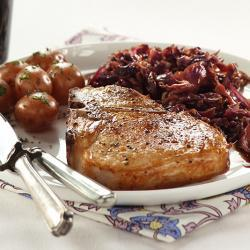 Pork with Sweet and Sour Red Cabbage