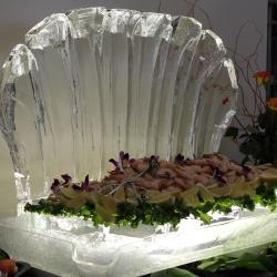 Ice Sculpture with Shrimp