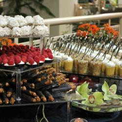 Dessert Display with Orchids