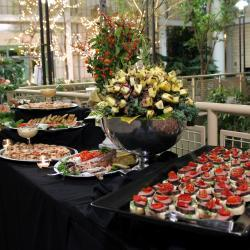 Pineapple Skewers and Appetizers Buffet