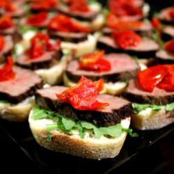 Steak Crostini Appetizer