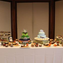 Football Cakes and Dessert Display