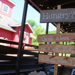 Hungry? Grab a Box Sign