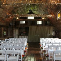 Ceremony Aisle with White Chairs