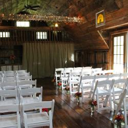 Wedding Ceremony Seating with White Chairs