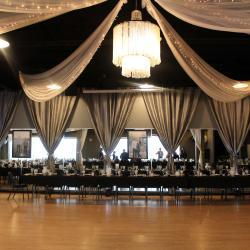 Dance Floor Chandelier and Tables