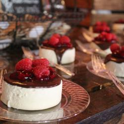 Individual Chocolate Raspberry Cheesecakes