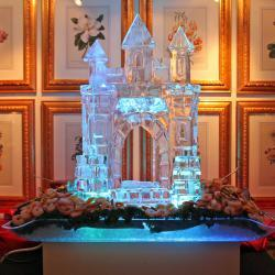 Castle Ice Sculpture with Shrimp