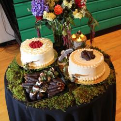 Cake and Floral Display