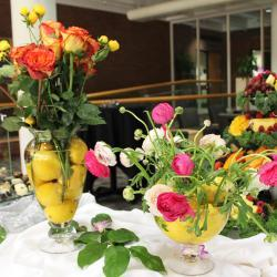 Flowers in Lemon Vases