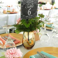 Table 6 with Gold Plates
