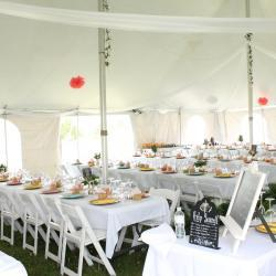 White Tent and White Tables