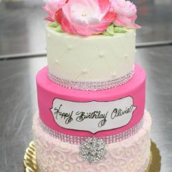 3-Tiered Cake with Jewels