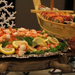 Shrimp and Sushi Display