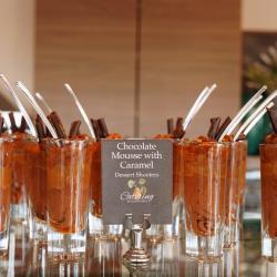Chocolate Mousse with Caramel Shooters
