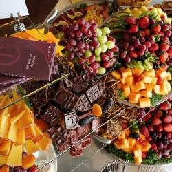Fruit, Cheese and Chocolate Display