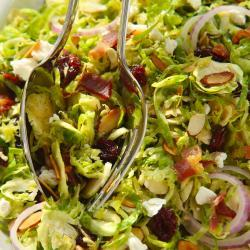 Kowalski's Brussels Sprouts Slaw with Bacon