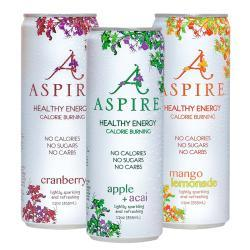 Aspire Sparkling Healthy Energy Drinks