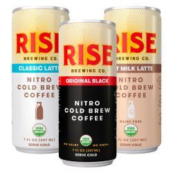 RISE Brewing Co. Nitro Cold Brew Coffees
